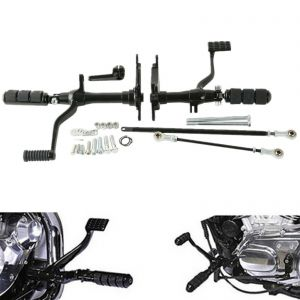 Black Forward Controls Linkage Set - Harley Sportster XL 883 1200 91-03
