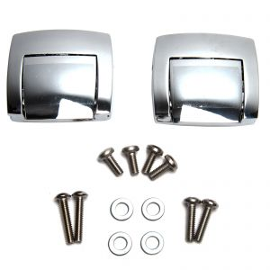 2x Chrome Latches Tour Pack Pak - Harley Classic Electra Glide Ultra 1988-2013
