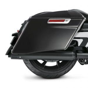 Gloss Black 4'' CVO Extended Stretched Hard Saddlebags Luggage Harley Davidson Touring 14-20