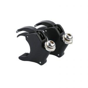 Black 49mm Detachable Windshield Clamps Fit - Harley Dyna Street Bob Wide Glide