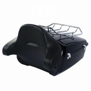 King Tour-Pak Luggage Top Box With Backrest - Harley Davidson Touring Models 14-20