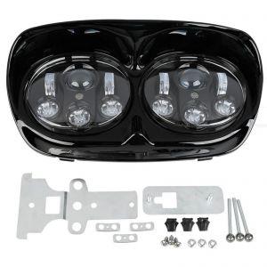 5-3/4'' Black LED Headlight Projector Lamp - Harley Road Glides1998-2013