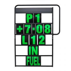 MPW Race Dept 100cm x 65cm 5 Row Pit Board & Green Number Kit
