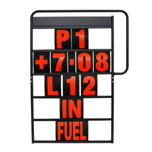 MPW Race Dept 100cm x 65cm 5 Row Pit Board & Red Number Kit