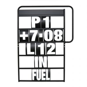 MPW Race Dept 100cm x 65cm 5 Row Pit Board & White Number Kit