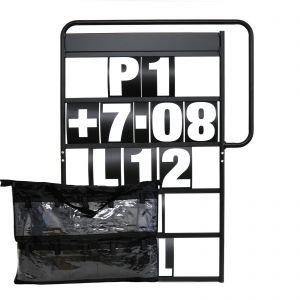 MPW Race Dept 100cm x 65cm Complete 5 Row Pit Board Kit - White