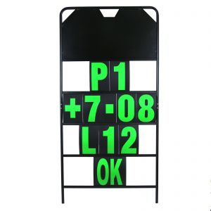 MPW Race Dept 150cm x 75cm 4 Row Pit Board & Green Number Kit