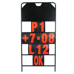 MPW Race Dept 150cm x 75cm 4 Row Pit Board & Red Number Kit
