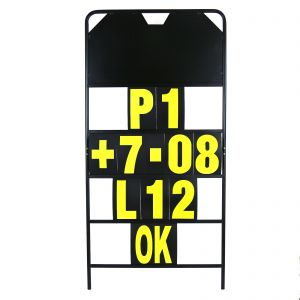 MPW Race Dept 150cm x 75cm 4 Row Pit Board & Yellow Number Kit