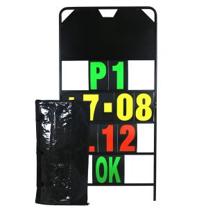 MPW Race Dept 150cm x 75cm 4 Row Pit Board with Numbers & Carry Bag