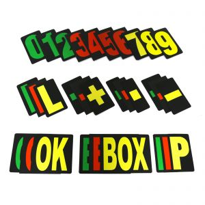 MPW Race Dept Extra Large Pit Board Number Sets Green/Red/Yellow