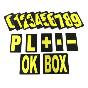 MPW Race Dept Extra Large Pit Board Number Set in Yellow
