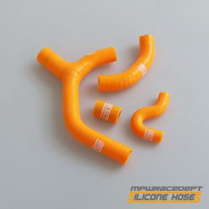 KTM 450EXC-R, 450EXC-F, 450EXC-W MPW Race Dept 4 Piece Silicone Hose Kit Orange - Y-Design