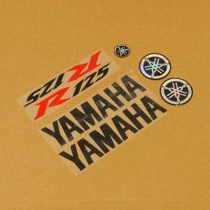 Black/Red/Black 7 Piece Sticker Set Yamaha - YZF-R125 08-17