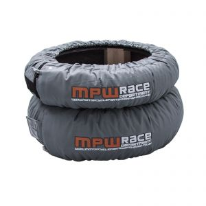 MPW Race Dept Analog Pro Tyre Warmers - Superbikes 120 Front/200 Rear - Grey