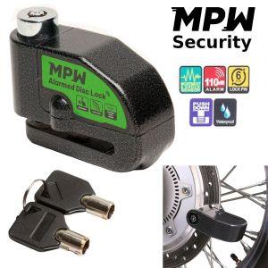 MPW Alarm Disc Lock Motorbike Scooter 110dB Bike Security