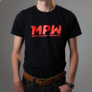 MPW Branded T-Shirt - Black With Red Logo - Unisex Fit