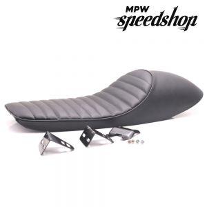 Universal Flat Hump Cafe Racer Vintage Scrambler Seat - Black