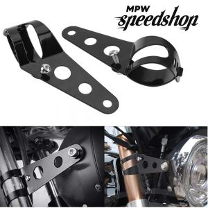 28-36mm Universal Custom Headlight Brackets - Black