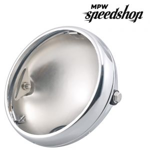 Universal Replacement 7 Inch Headlight Bowl Shell Case - Chrome
