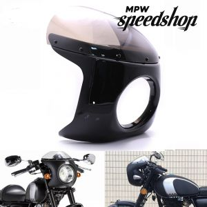 Universal 7 Inch Cafe Racer Harley Davidson Style Headlight Quarter Fairing