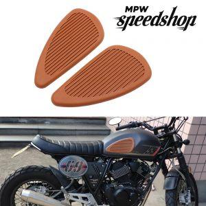 Cafe Racer Style Anti-slip Tank Knee Grip Pads - Brown