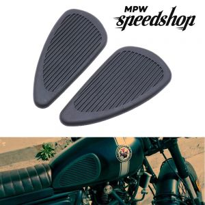 Cafe Racer Style Anti-slip Tank Knee Grip Pads - Black