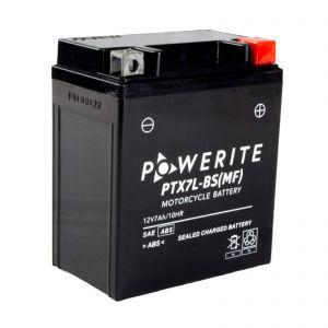 PTX7LBS-12V (YTX7LBS) Powerite AGM Motorcycle Battery | 12V 7Ah