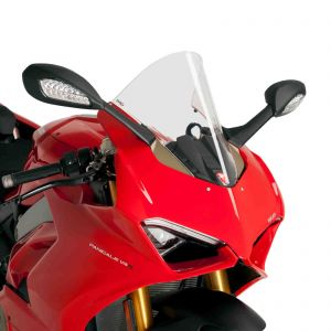 Puig Clear Racing Screen For Ducati Panigale V4 / S / Speciale 18-20   V2 20-