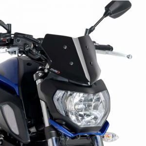 Puig Black Racing Screen For Yamaha MT-07 18-20