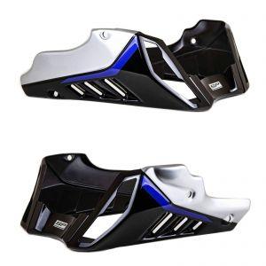 Pyramid Black Blue Metal Belly Pan Fairing - Yamaha MT-10 SP 2017-2020