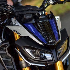 Pyramid Black Blue Metal Fly Screen Fairing - Yamaha MT-09 SP 2018-2020