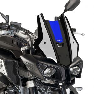 Pyramid Black Blue Metal Fly Screen Fairing - Yamaha MT-10 SP 2017-2020