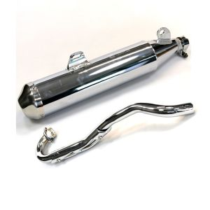 Exhaust Assembly Complete (Chrome) - Sinnis Apache 125, Blade 125