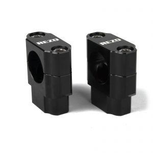 REZO Aluminium 28.6mm Handlebar Risers - Black