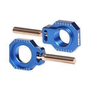 RFX Pro Rear Axle Adjuster Blocks (Blue) - Husqvarna FC (250, 350, 450)