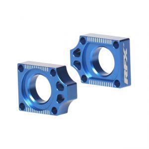 RFX Pro Rear Axle Adjuster Blocks (Blue) - Yamaha YZ250F (01-)