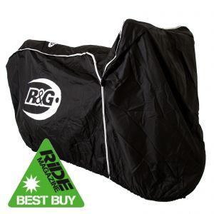 R&G Superbike Outdoor Waterproof Protective Motorcycle Black Rain Cover