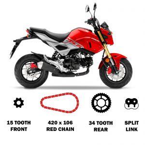 RK Chain and Sprocket Kit - Honda MSX125 Grom (13-19)