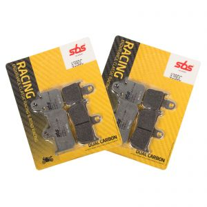 SBS 839 DC Dual Carbon Front Brake Pads Pair - Yamaha YZF-R1 / ABS 07-14