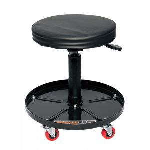 MPW Race Dept Adjustable Workshop Stool with Tool Tray