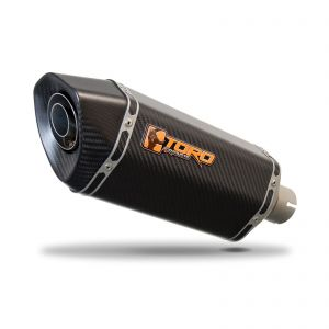Toro 51mm Right-Hand Slip-on Hex-x Carbon Fibre Exhaust Silencer