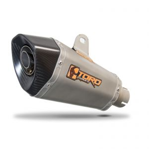 Toro 51mm Right-Hand Slip-on Hex Cone Stainless/Carbon Fibre Exhaust