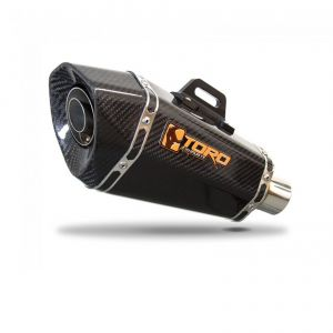 Toro 51mm Right-Hand Slip-on Hex Cone Gloss Carbon Fibre Motorcycle Exhaust