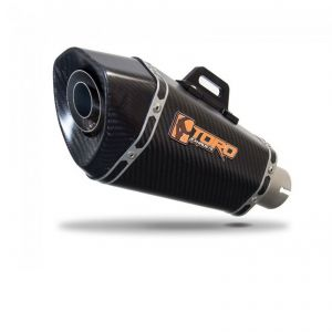 Toro 51mm Right-Hand Slip-on Hex Cone Carbon Fibre Exhaust Silencer