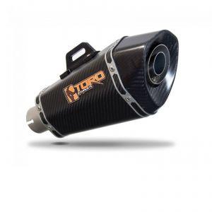 Toro 51mm Left-Hand Slip-on Hex Cone Carbon Fibre Exhaust Silencer