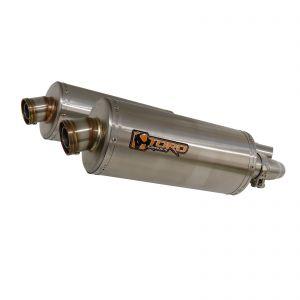 Toro 300mm Oval Stainless Steel Twin Exhaust - Triumph Street Triple 675 07-12