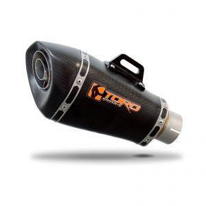 Toro 61mm Universal Exhaust Silencer - Matt Carbon HexCone