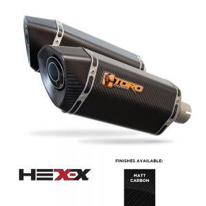 CBF1000 05-11 - Toro Exhaust Link Pipe, w/ Carbon HexX Silencer