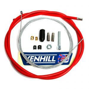 Venhill Universal Motorcycle 1.35m Clutch Cable Kit - Red